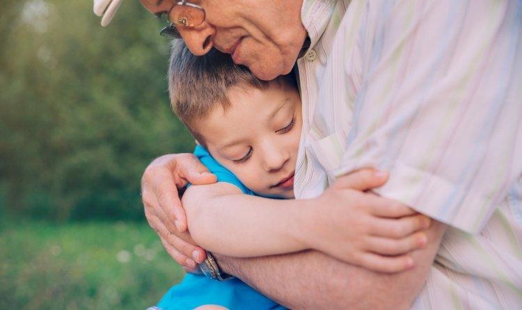 grandpa hug