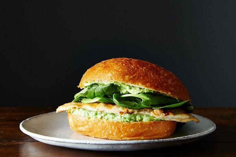 Green goddess chicken sandwich.