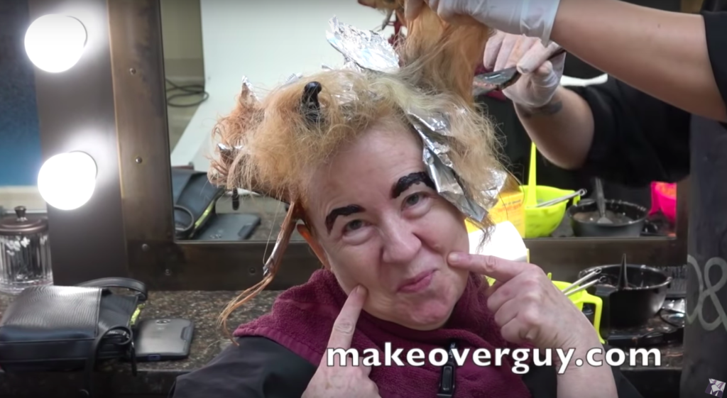 Image of woman during makeover