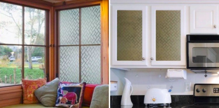 windows with decorative contact film