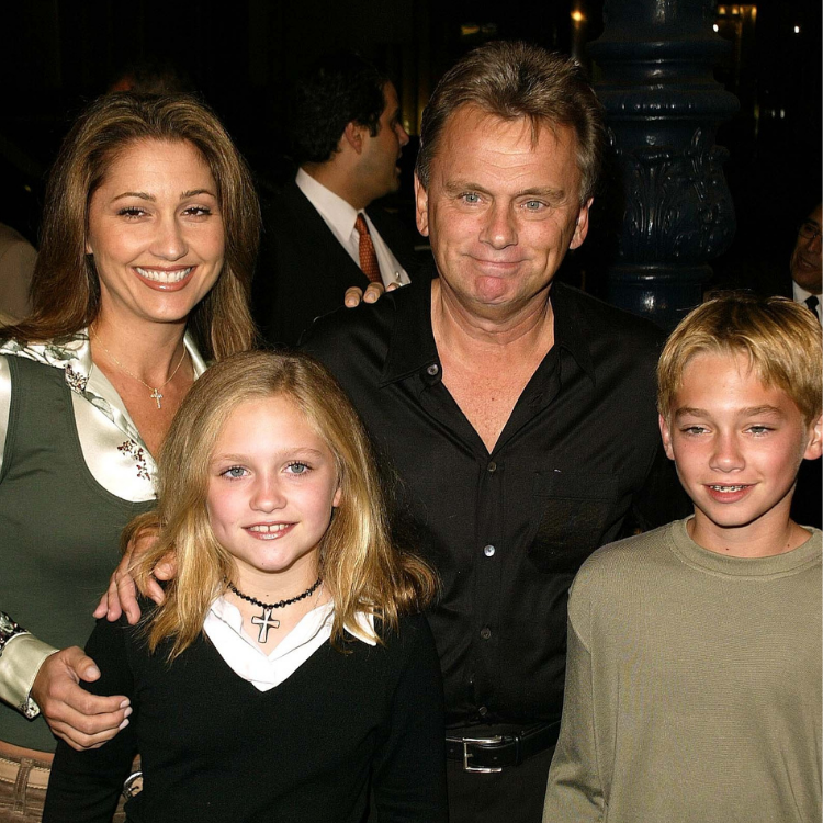 Lesly Brown, Pat Sajak, and children