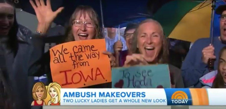 Image of sisters on Today show.