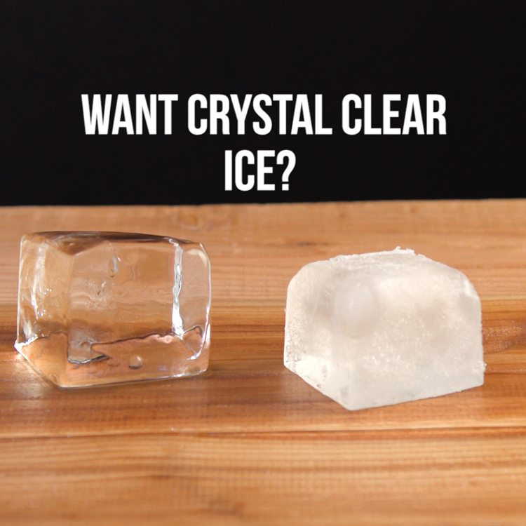 Crystal Clear Cocktail Ice want crystal clear ice comparison cloudy