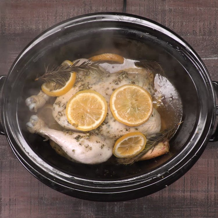 Slow Cooker Lemon Chicken done