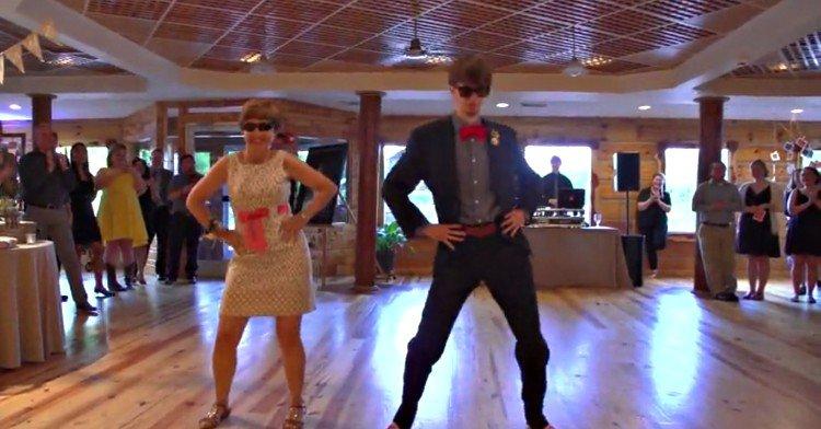 Cool mom and son wedding dance.