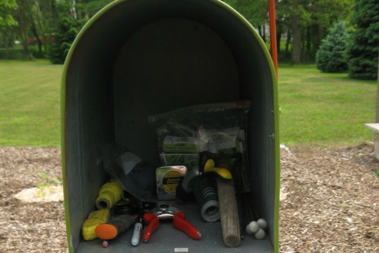 mailbox toolshed