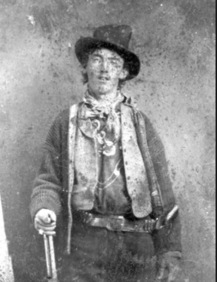 billy the kid portrait with gun