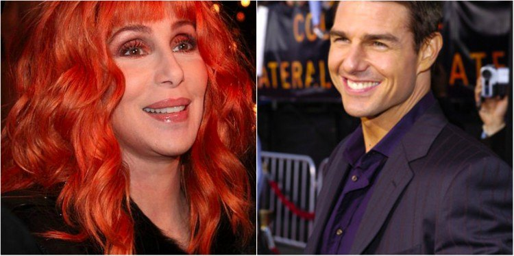 Cher and Tom Cruise splitimage