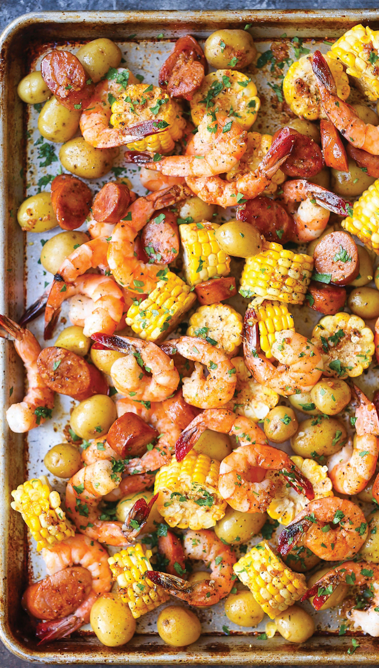 Sheet Pan Shrimp Boil Damn Delicious