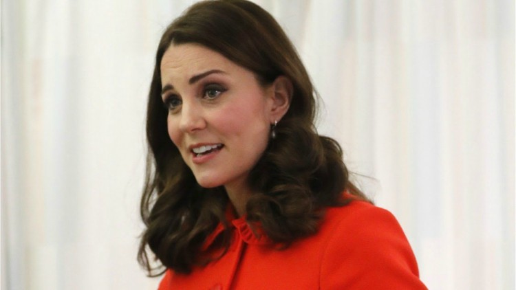 Image of Kate Middleton in red.