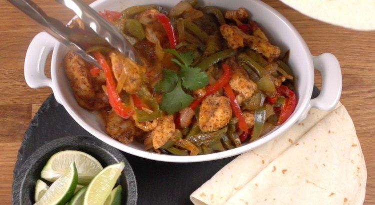 Oven Chicken Fajitas