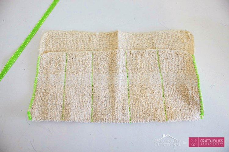 DIY Washcloth Travel Kit Stitching