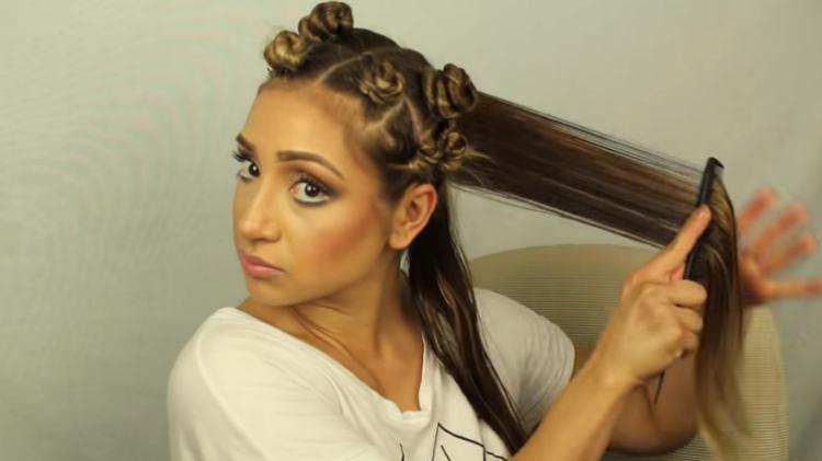 Twist hair for curls like bantu knots or pin curls
