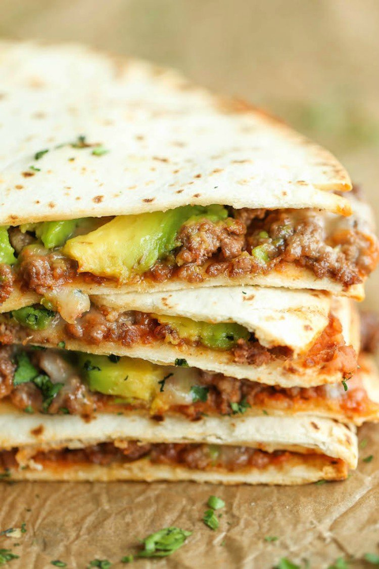 Turkey avocado quesadillas.