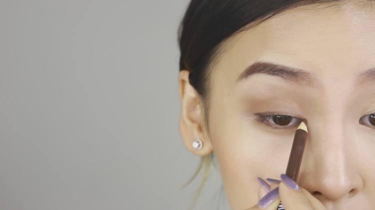 Use brown liner instead of black for daytime or light eyes