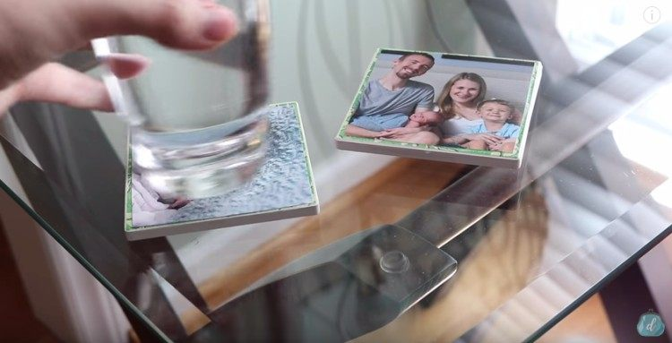 How to Mod Podge personalized coasters.