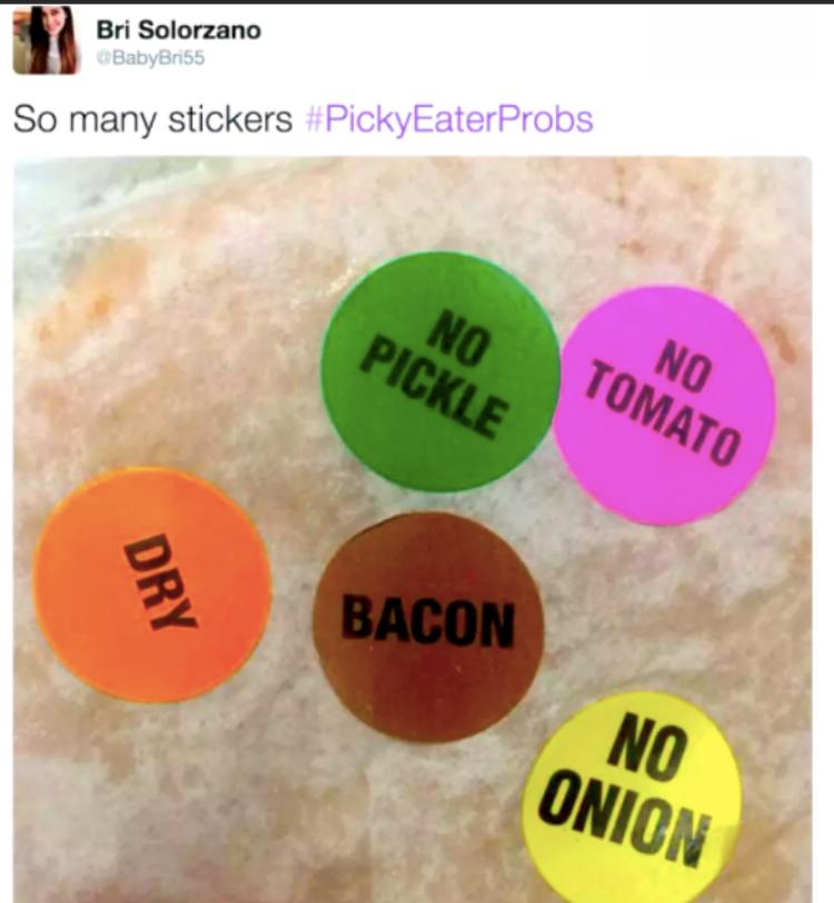 picky eater meme