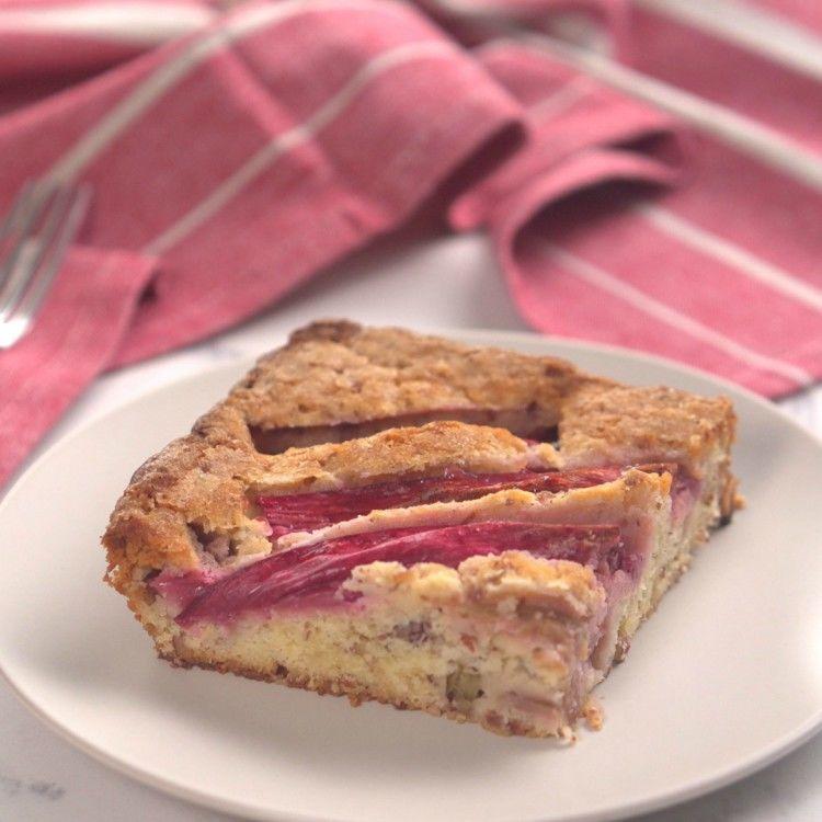Rhubarb Almond Cake Thumbnail