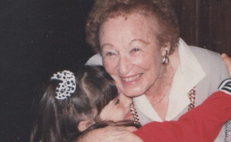 child hugging grandmother