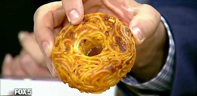 Image of spaghetti donut.