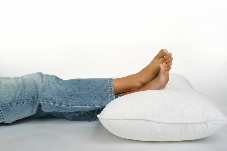 Foot On Pillow