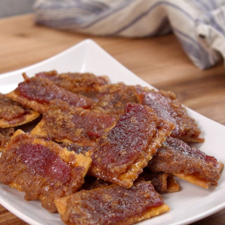 Bacon Crackers finished product.
