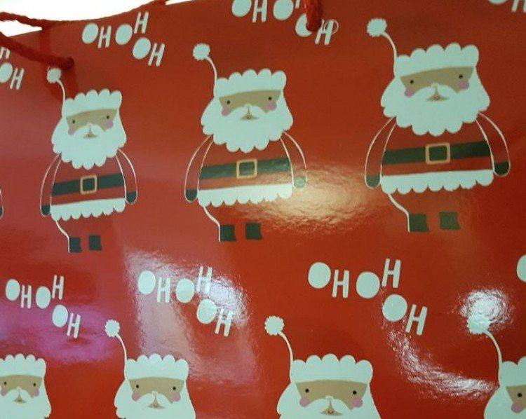 Santa wrapping paper.