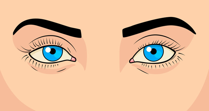 Graphic of two blue eyes.