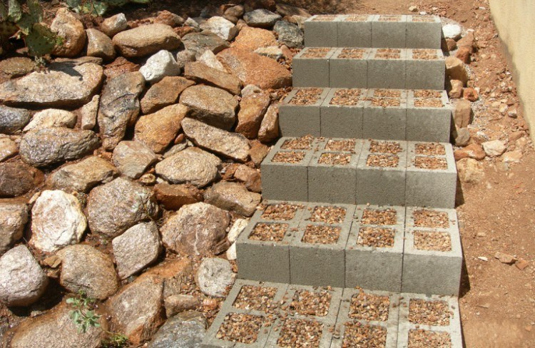 cinderblock steps