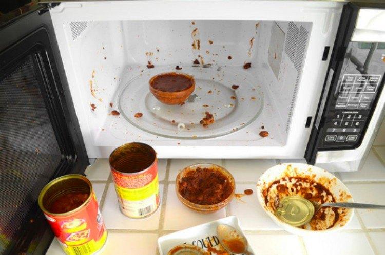 microwave food splatter