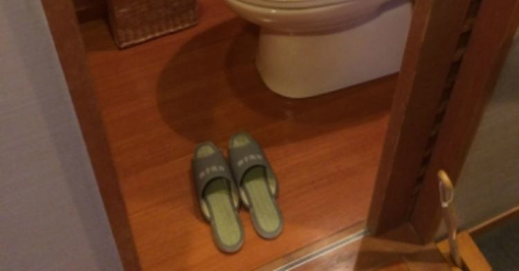 Japanese toilet slippers.