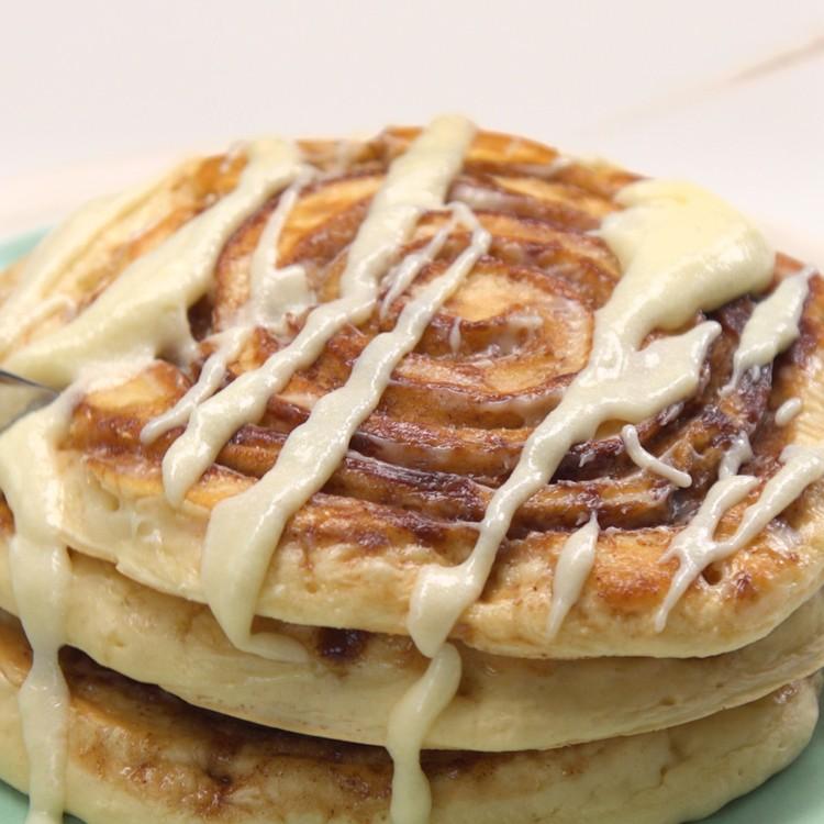 Cinnamon Roll Pancakes 2