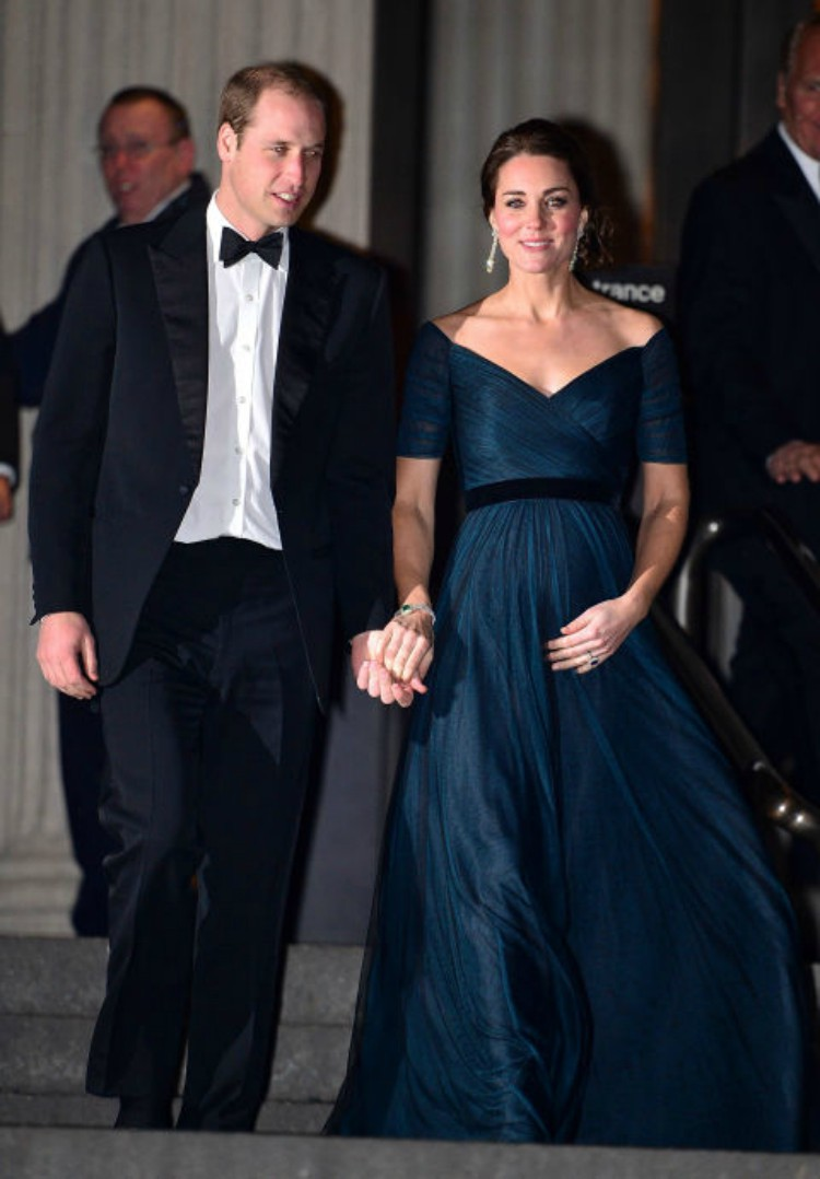 Image of Kate Middleton and Prince William in formal wear.