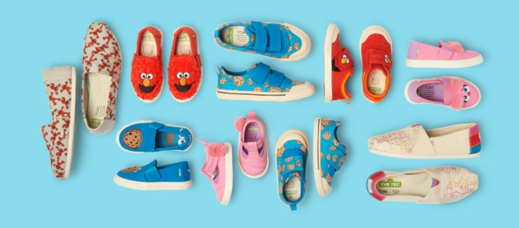 Image of TOMS sesame street shoes