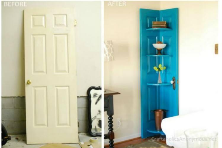 Image of corner shelf.