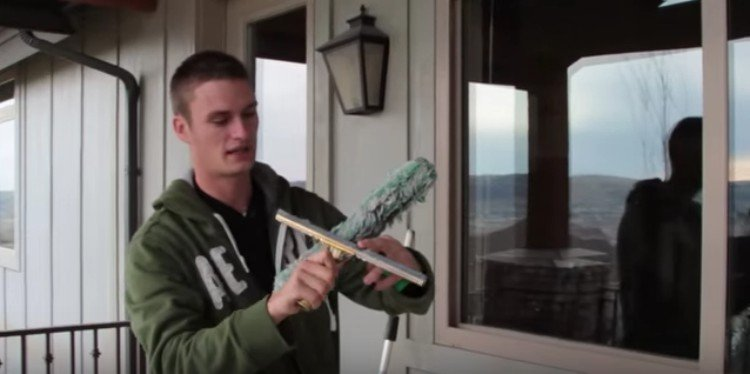 Zack shows us his squeegee