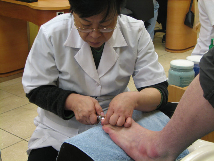 Image of woman getting pedicure