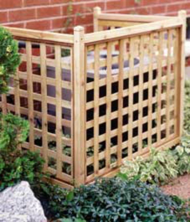 Hide your outdoor AC unit with a lattice.