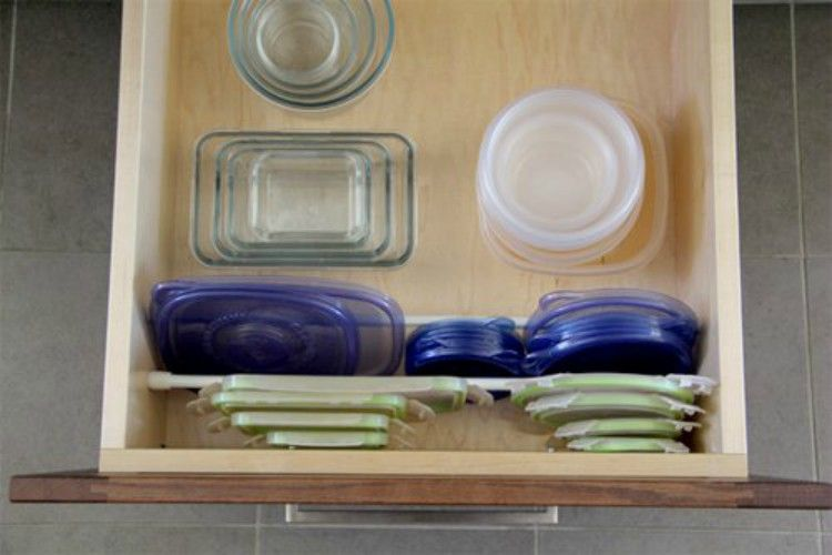 curtain rod drawer organizer