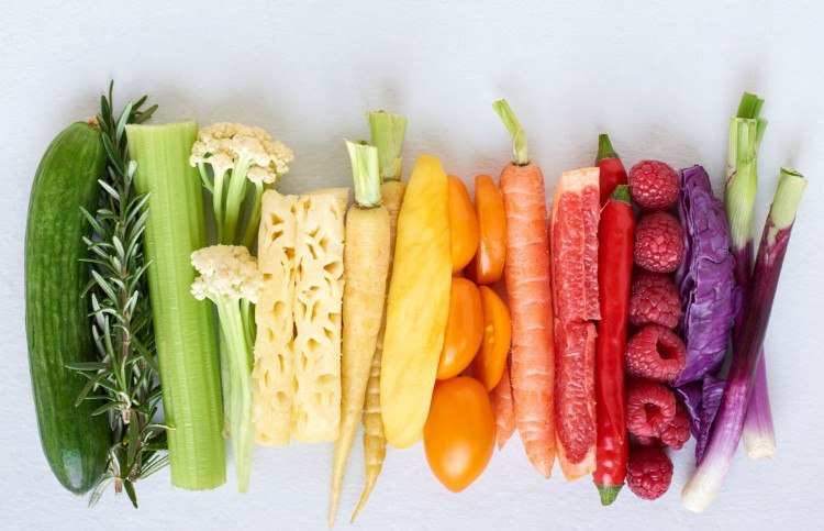 Image of colorful vegetables.