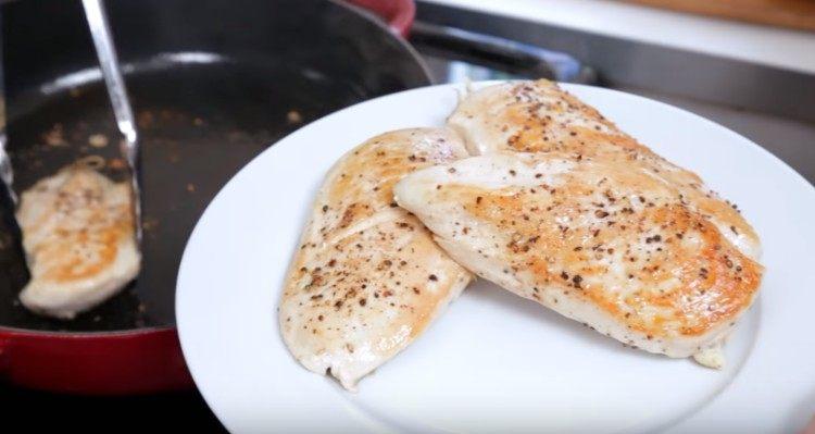 Not breaded chicken for light chicken parm.