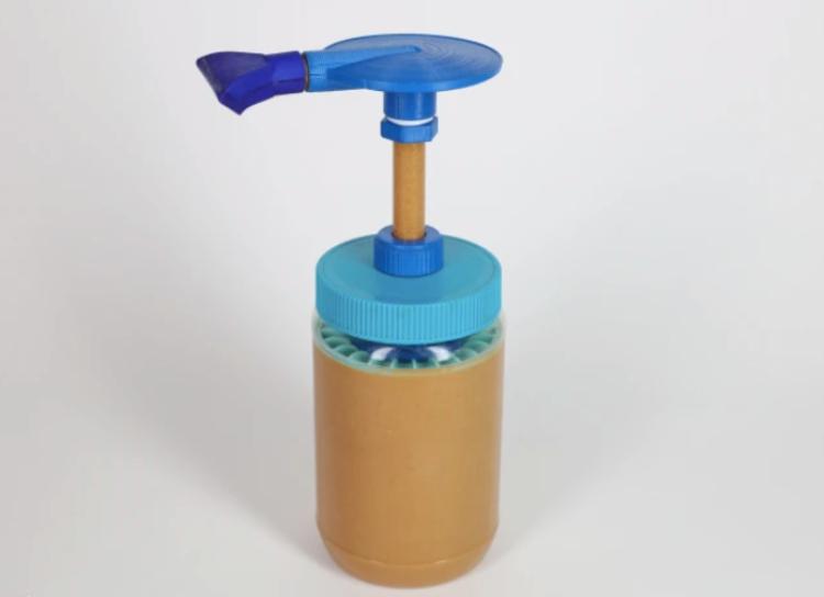 Image of peanut butter pump