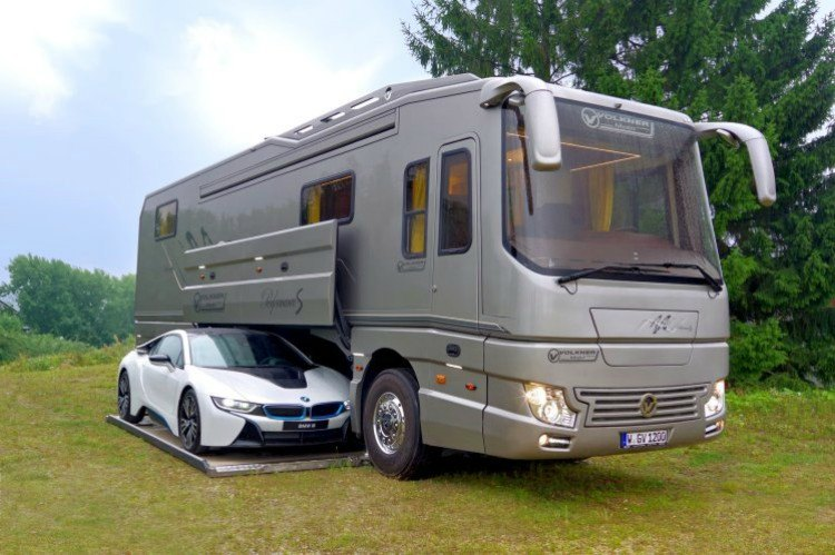 Image of luxury motorhome.