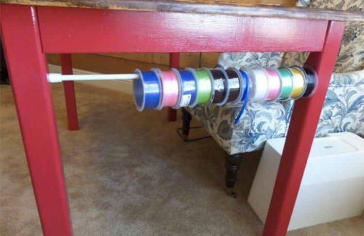 curtain rod craft holder