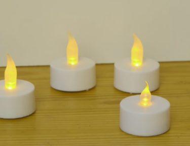 DIY tea light candles.