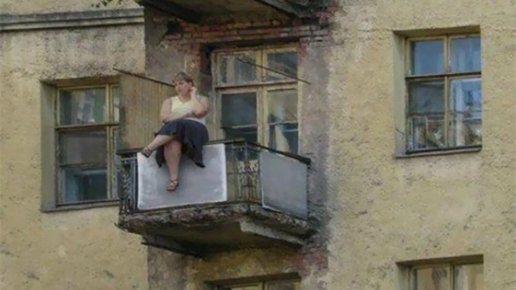 On a Balcony