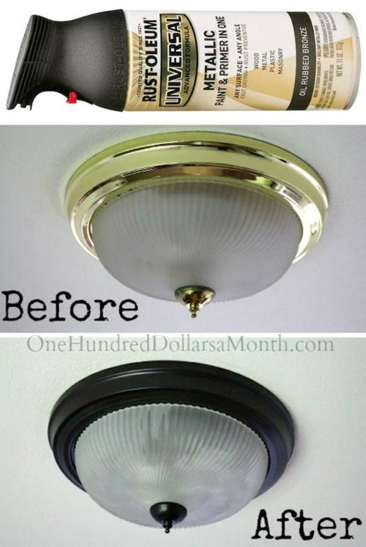 Spray Paint Light Fixture