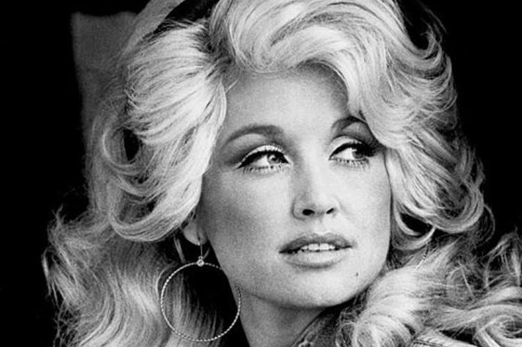 Dolly Parton black and white