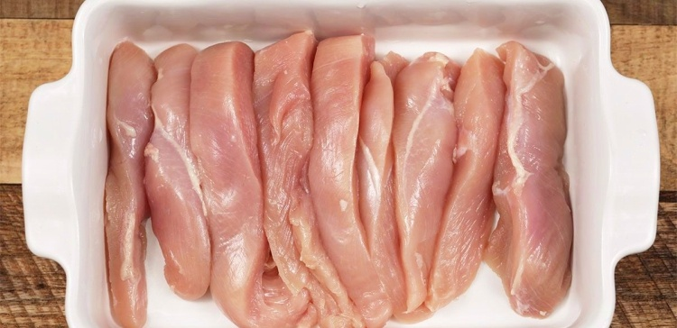 Raw Chicken for Casserole