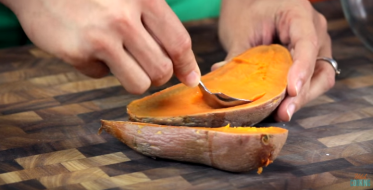 ScoopingSweetPotatoes